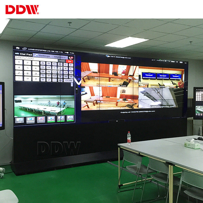 3.5 Mm 2x2 CCTV Video Wall 55 Inch AC100~240V For Fire Alarm Monitoring Center