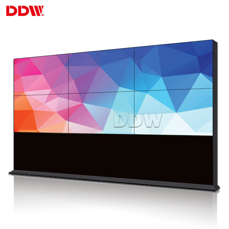 1920x1080 1.7 Mm Indoor 4k Video Wall 2x3 , 500 Nits LED Backlit Video Display Screen